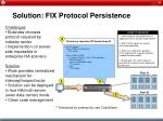 solution fix protocol persistence