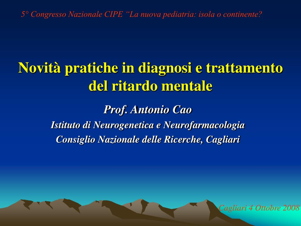 novit pratiche in diagnosi e trattamento del ritardo mentale l.