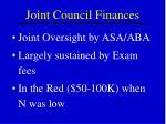 joint council finances