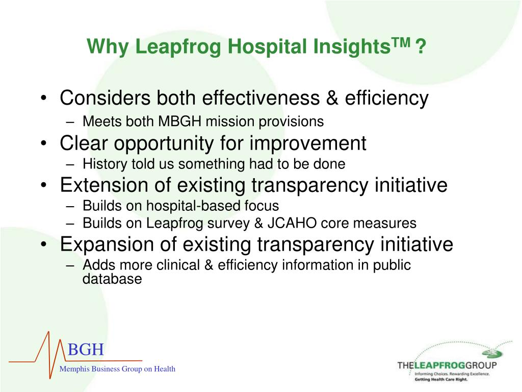 Why Leapfrog Hospital Insights
