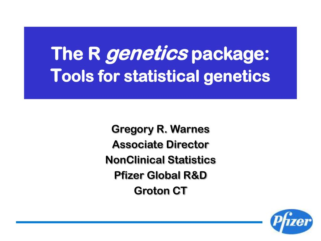 the r genetics package t ools for statistical genetics l.