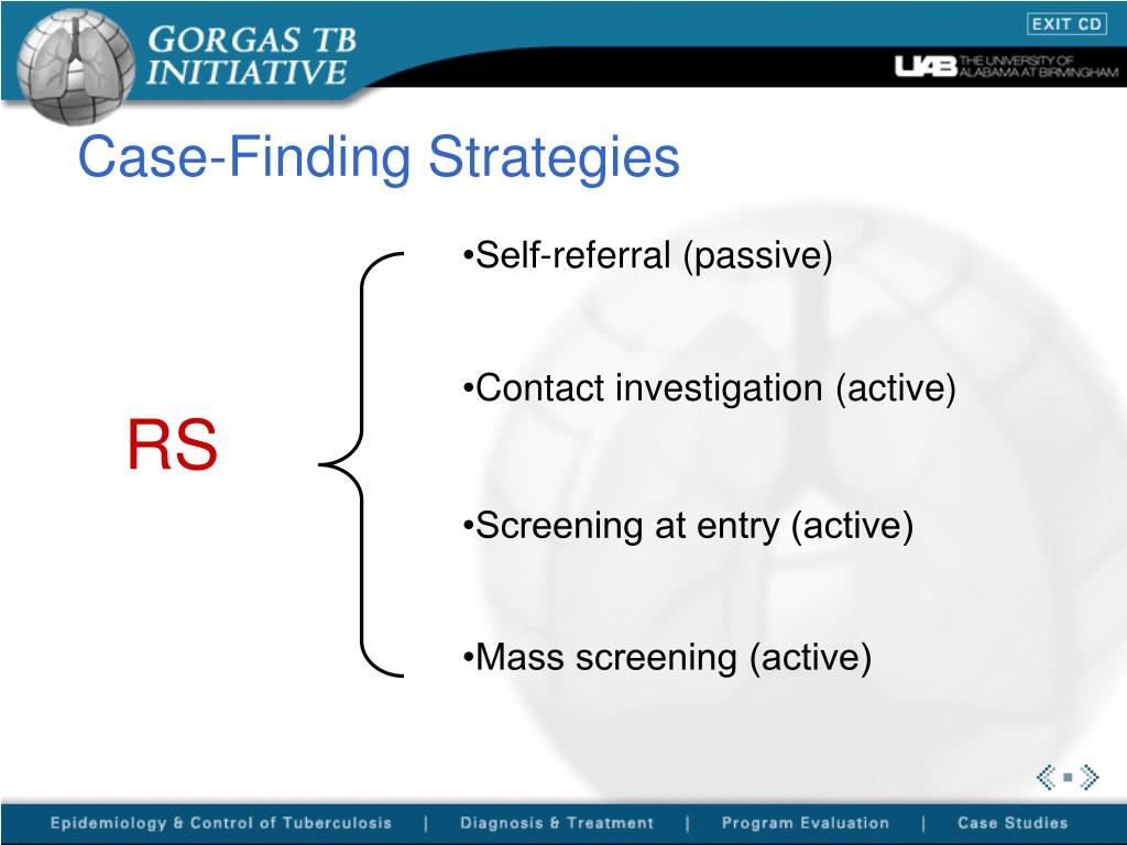 Case-Finding Strategies