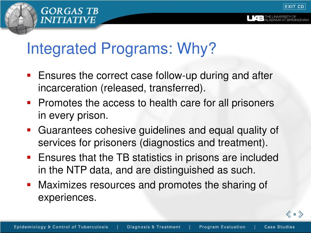 Integrated Programs: Why?