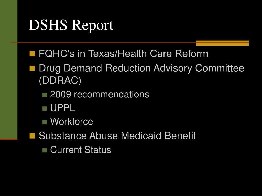 DSHS Report
