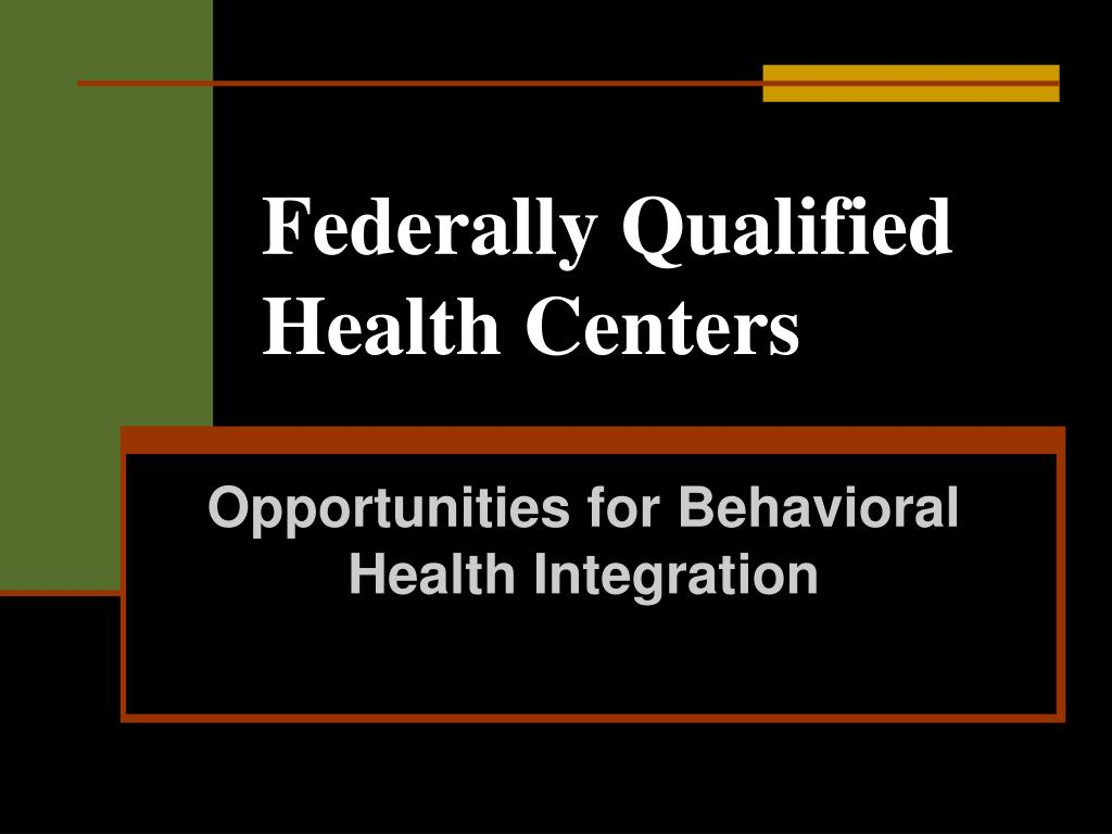 Federally Qualified Health Centers