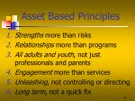 asset based principles