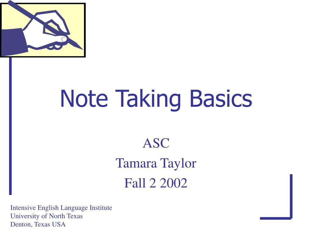 note taking basics l.