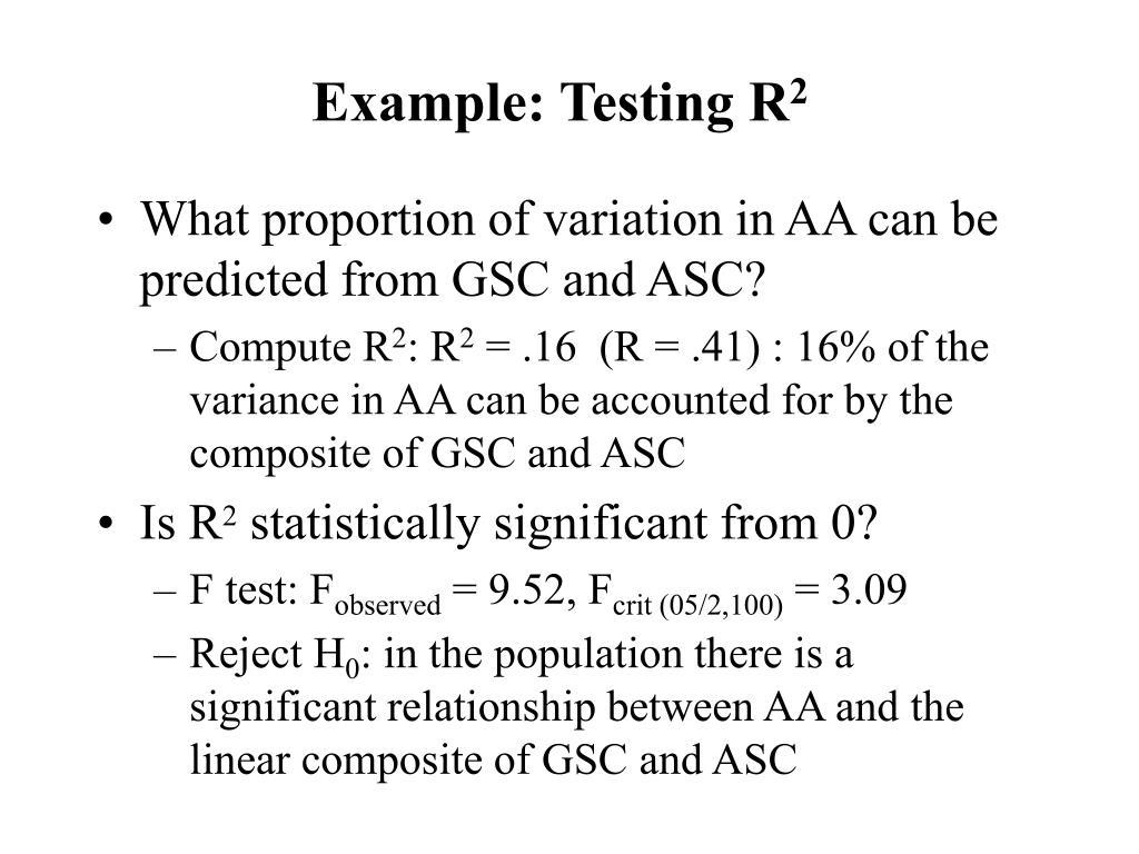 Example: Testing R