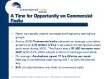 a time for opportunity on commercial radio33