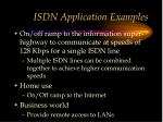 isdn application examples