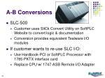 a b conversions50