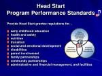 head start program performance standards13