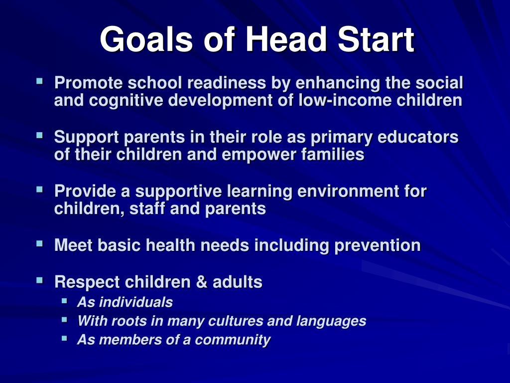 Goals of Head Start