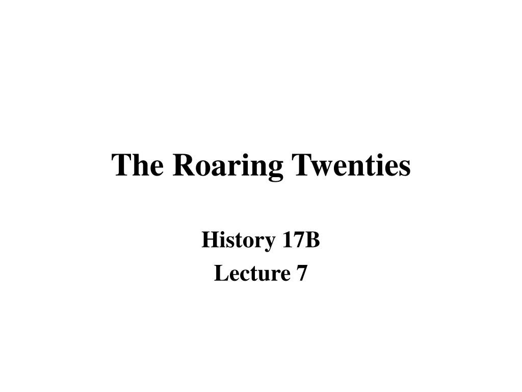 the roaring twenties l.
