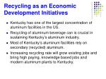 recycling as an economic development initiatives