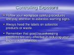 controlling exposure