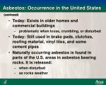 asbestos occurrence in the united states7