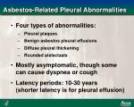 asbestos related pleural abnormalities