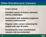 other extrathoracic cancers