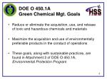 doe o 450 1a green chemical mgt goals