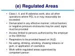 e regulated areas
