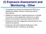 f exposure assessment and monitoring other