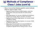 g methods of compliance class i jobs cont d23