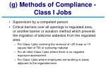 g methods of compliance class i jobs
