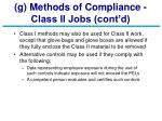 g methods of compliance class ii jobs cont d27