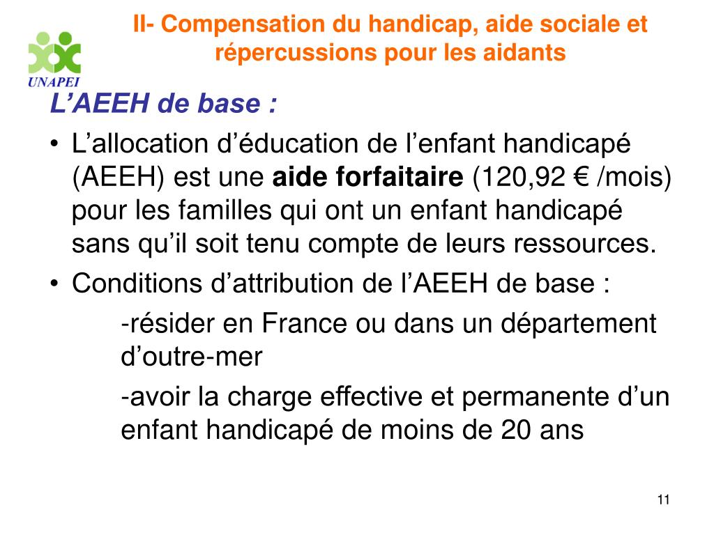 II- Compensation du handicap, aide sociale et répercussions pour les aidants