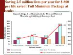 saving 2 5 million lives per year for 800 per life saved full minimum package at scale