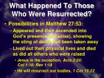 what happened to those who were resurrected1