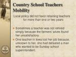 country school teachers mobility