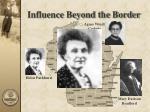 influence beyond the border39
