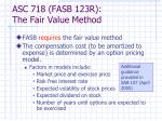 asc 718 fasb 123r the fair value method