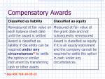 compensatory awards