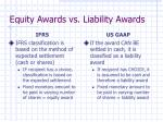 equity awards vs liability awards