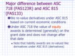 major difference between asc 718 fas123r and asc 815 fas133