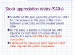 stock appreciation rights sars