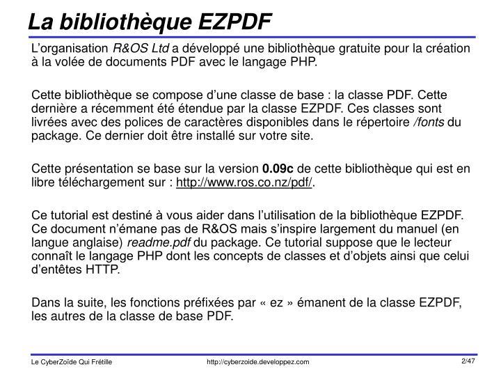 La biblioth que ezpdf