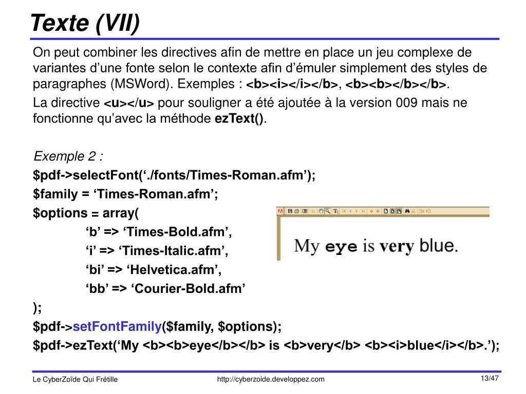Texte (VII)