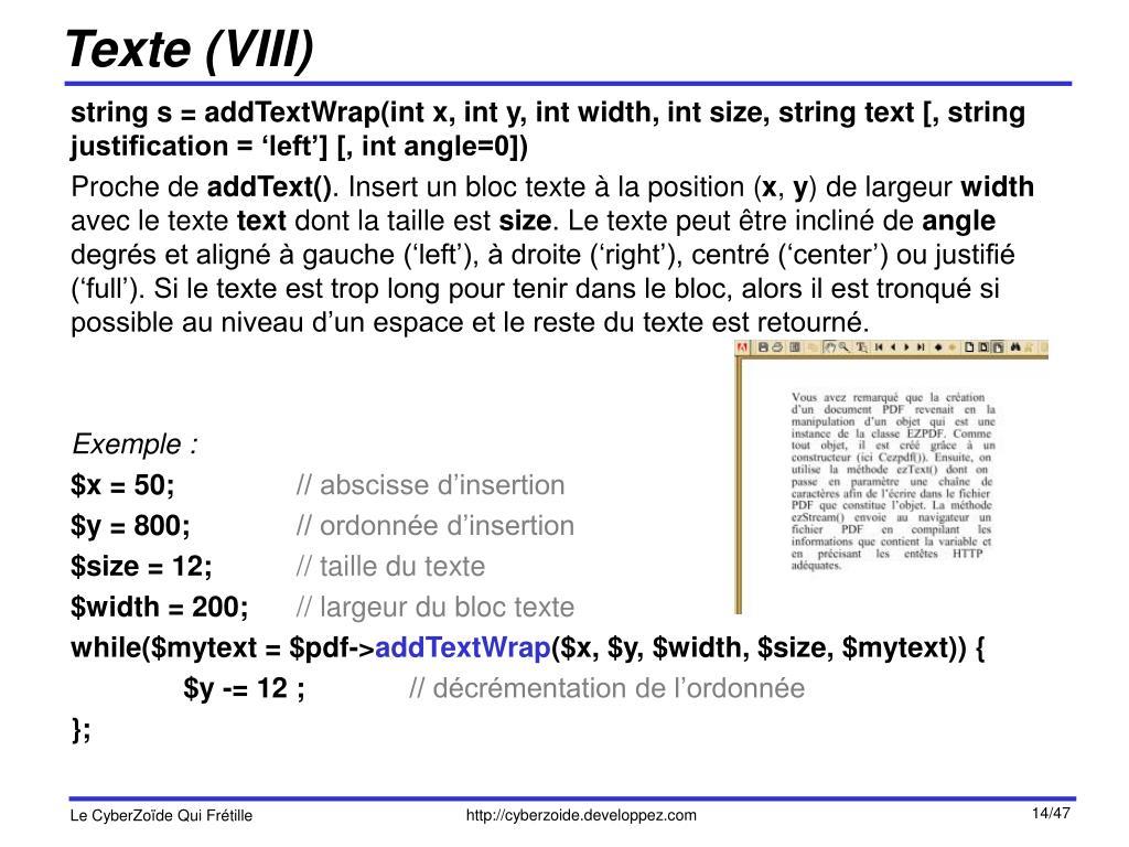 Texte (VIII)