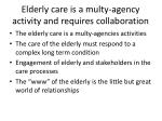 elderly care is a multy agency activity and requires collaboration13