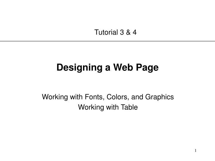 designing a web page n.