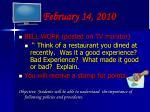 february 14 2010