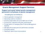 grants management support services