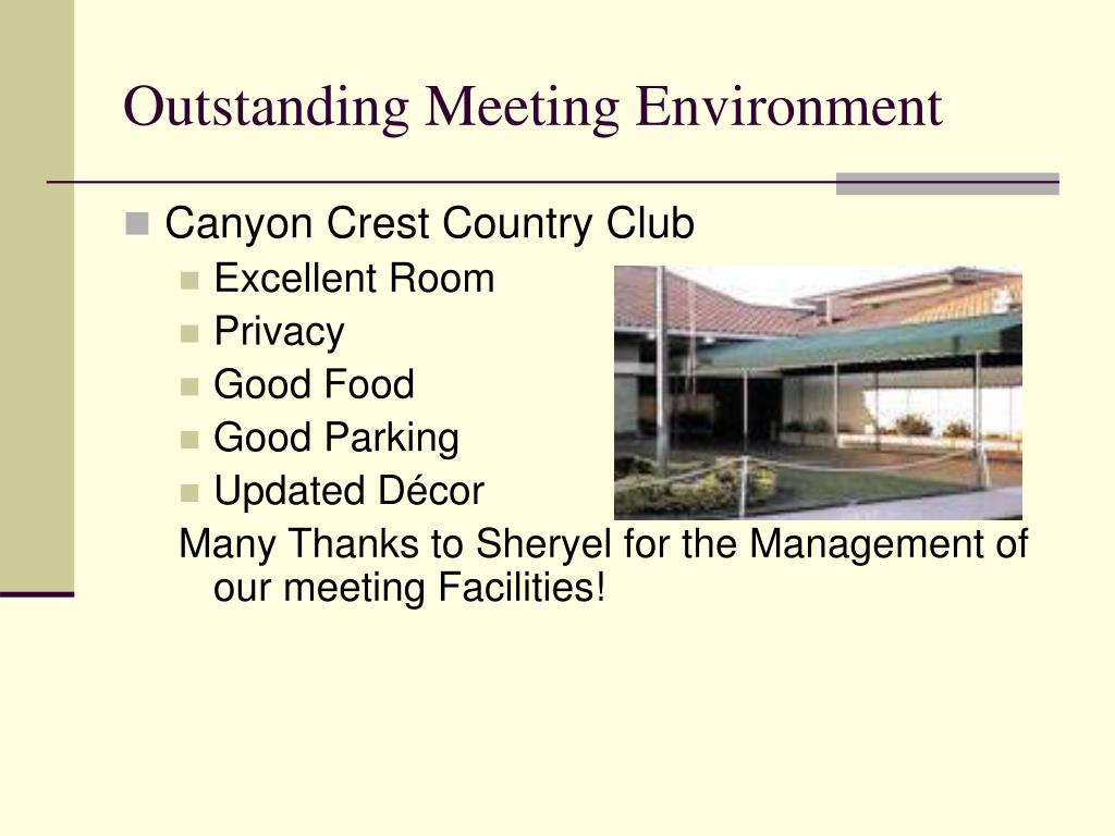 Outstanding Meeting Environment