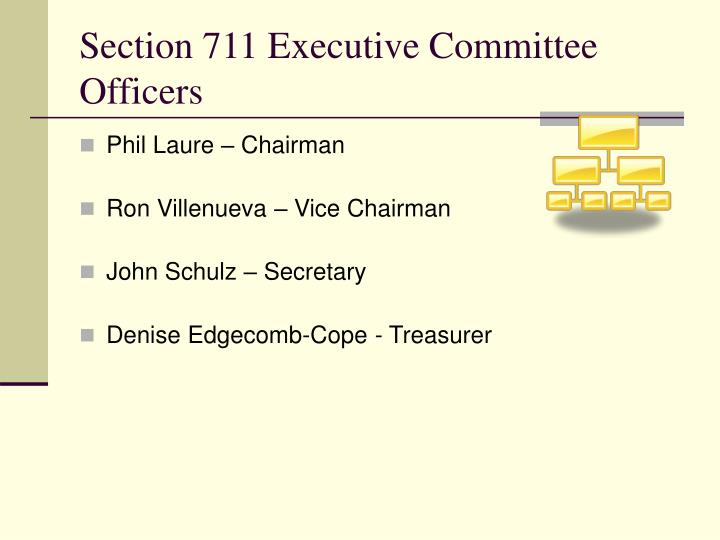 Section 711 executive committee officers