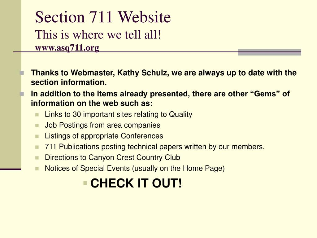 Section 711 Website