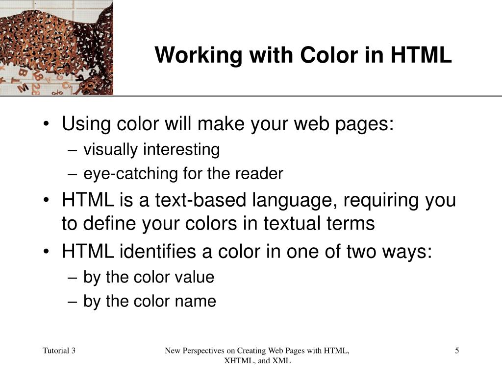 Working with Color in HTML